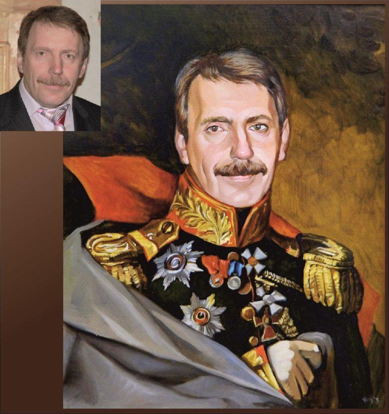 Настоящий портрет маслом на заказ в Уфе…
