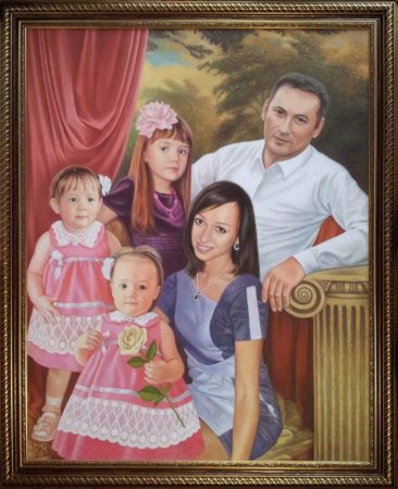 Семейный портрет маслом в Уфе — правильная традиция…