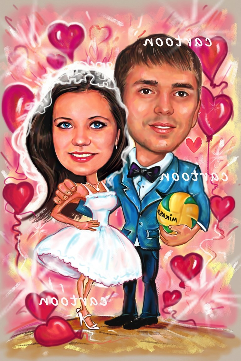 Свадебный шарж с оригинальным сюжетом в Уфе!