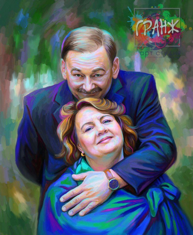 Портрет по фото на холсте в подарок на Новый 2019 год Уфа…