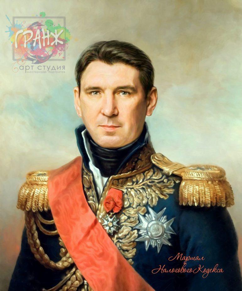 Портрет по фото на холсте в подарок мужчине Уфа