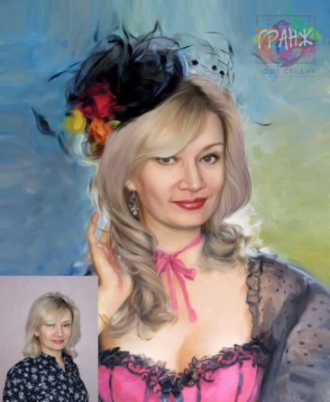 Заказать арт портрет по фото на холсте в Уфе
