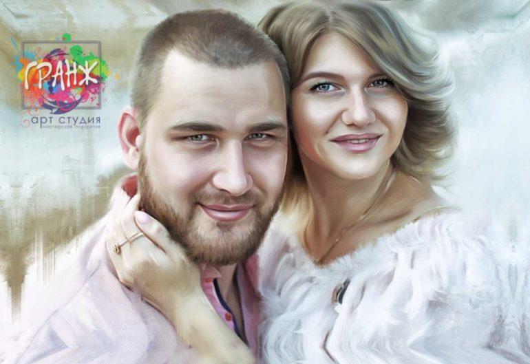 Где заказать портрет по фотографии на холсте в Уфе?