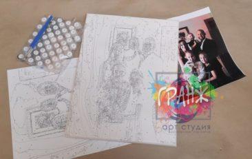 Картина по номерам по фото, портреты на холсте и дереве в Уфе
